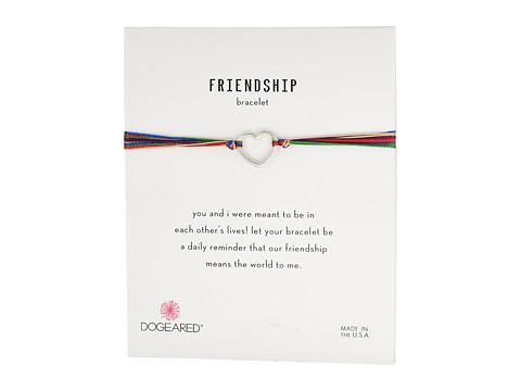Dogeared Friendship Linked Open Hearts Rainbow Bracelet - Sterling Silver/Mixed