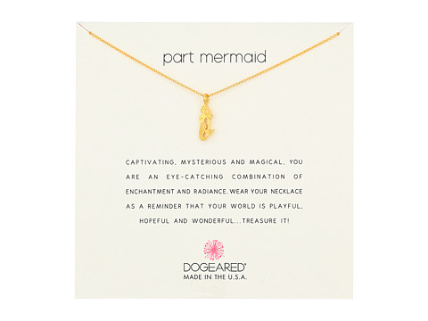 Dogeared Part Mermaid Enchanted Mermaid Necklace - Gold Dipped