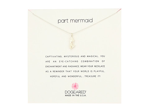 Dogeared Part Mermaid Enchanted Mermaid Necklace - Sterling Silver