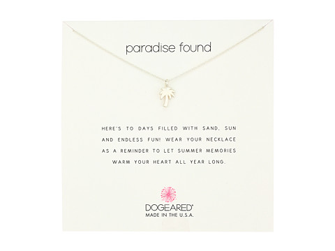 Dogeared Paradise Found Smooth Palm Tree Necklace - Sterling Silver