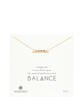 Balance Smooth Bar w/ Multicolored Seed Bead Bar Necklace  Gold