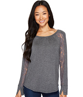 B Collection by Bobeau - Burton Lace Trim Top
