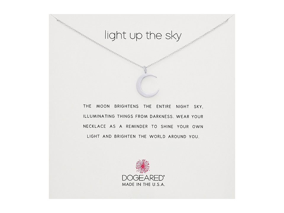 Dogeared Light Up the Sky Thin Crescent Moon Necklace (St...