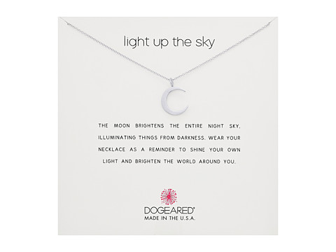 Dogeared Light Up the Sky Thin Crescent Moon Necklace - Sterling Silver