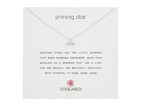 Dogeared Shining Star Shooting Star Necklace - Sterling Silver