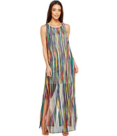 Sangria - Horizontal Stripe Midi with Side Slits