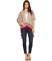 Bindya - Burgundy Paisley Kimono with Tassels