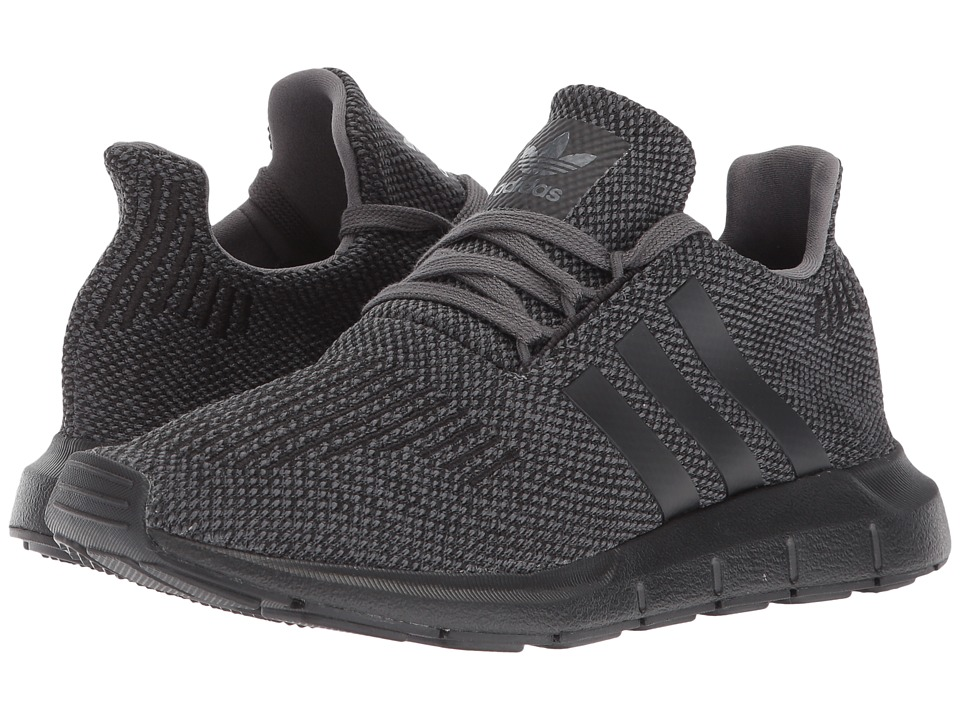 adidas Originals Kids Swift Run (Big Kid) (Grey/Black/Black) Boys Shoes