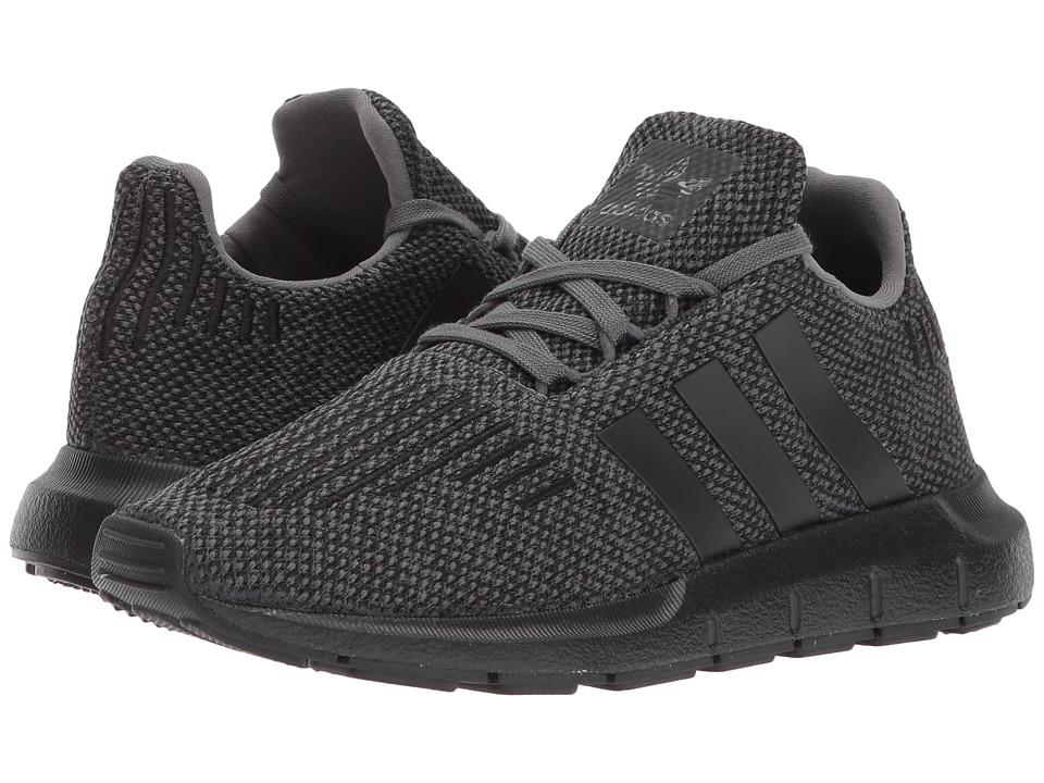 adidas Originals Kids Swift Run (Little Kid) (Grey/Black/Black) Boys Shoes