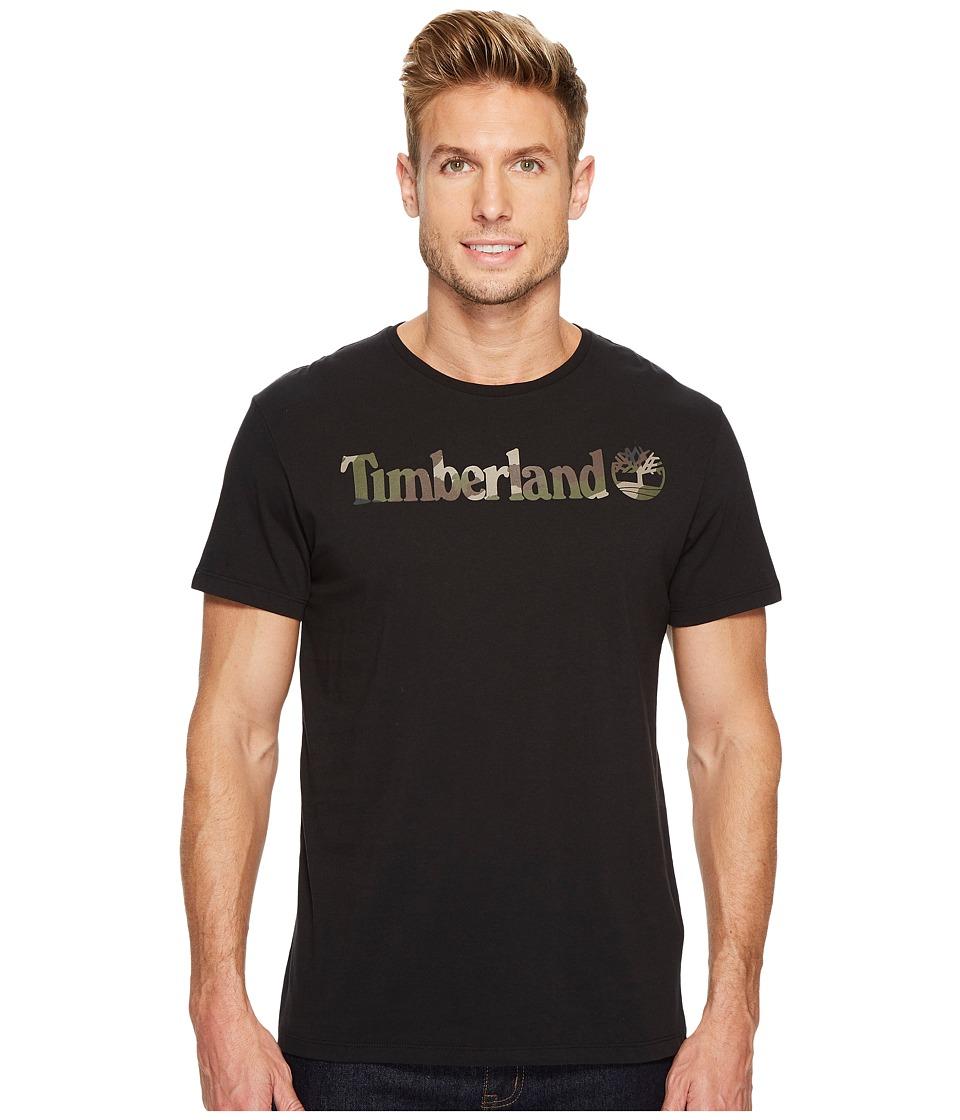 Timberland Short Sleeve Dunstan River Camo Print Logo Tee (Black) Men
