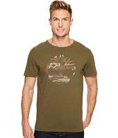 Timberland - Short Sleeve Dunstan River Camo Print Logo Tee