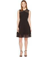 Tahari by ASL - Mesh Tape Fit-and-Flare Dress