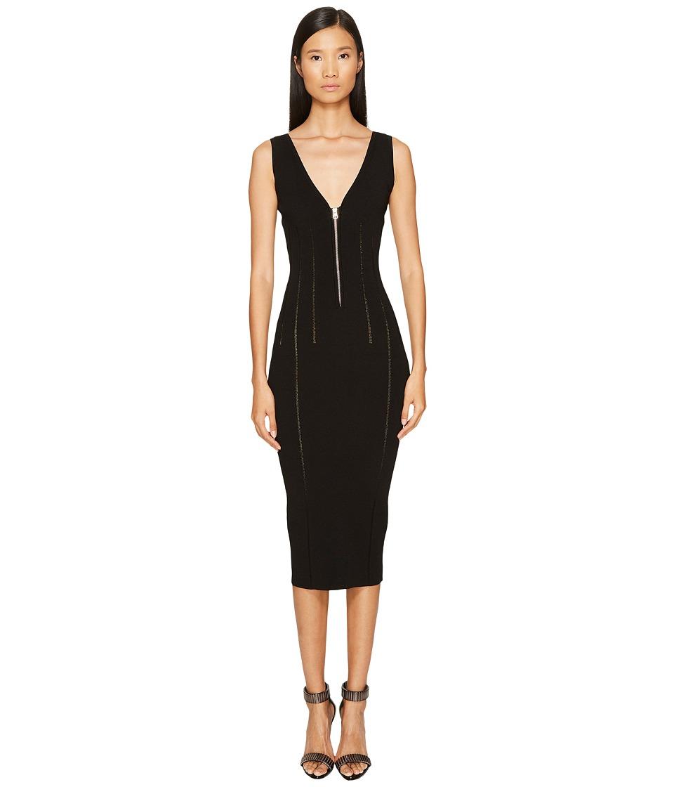 McQ Body Block Zip Dress (Darkest Black) Women