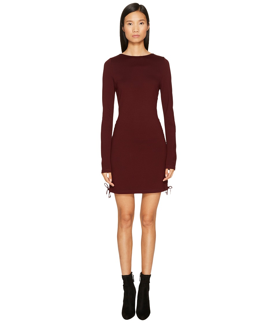 McQ Eyelet Mini Dress (Port) Women