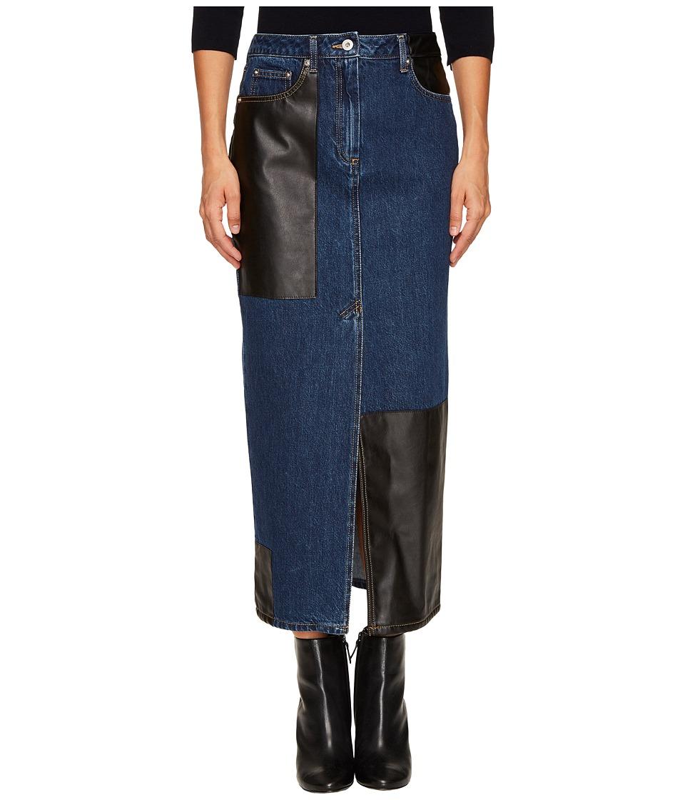 McQ Recycled Tube Skirt (Indigo) Women's Skirt