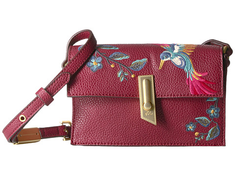 Foley & Corinna Ma Cherie Taylor Embroidery Crossbody - Berry Sangria