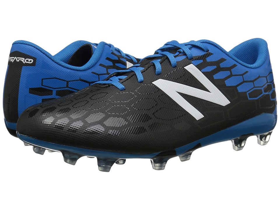 New Balance Kids JSVRCFv2 Soccer (Little Kid/Big Kid) (Black/Bolt) Boys Shoes