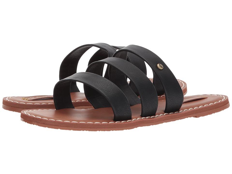 Roxy Sonia Three Strap Sandals (Black) Women's Sandals