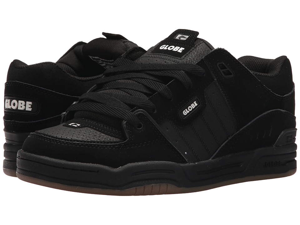 Globe - Fusion (Black/Black/Silver Grey) Mens Skate Shoes