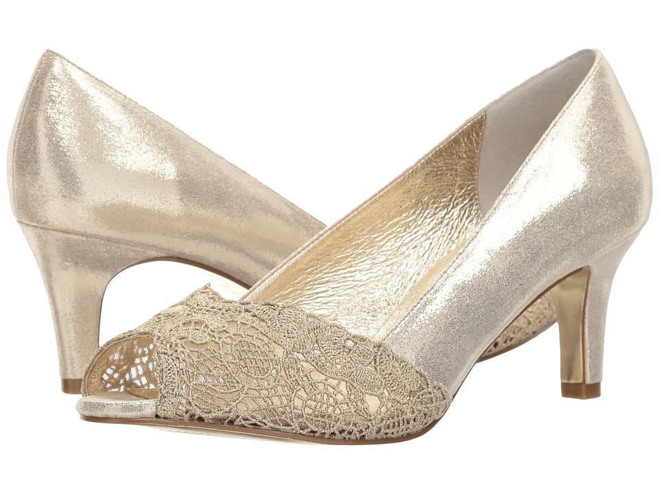 Vintage Inspired Wedding Dresses Adrianna Papell - Jude Gold Womens Shoes $129.00 AT vintagedancer.com