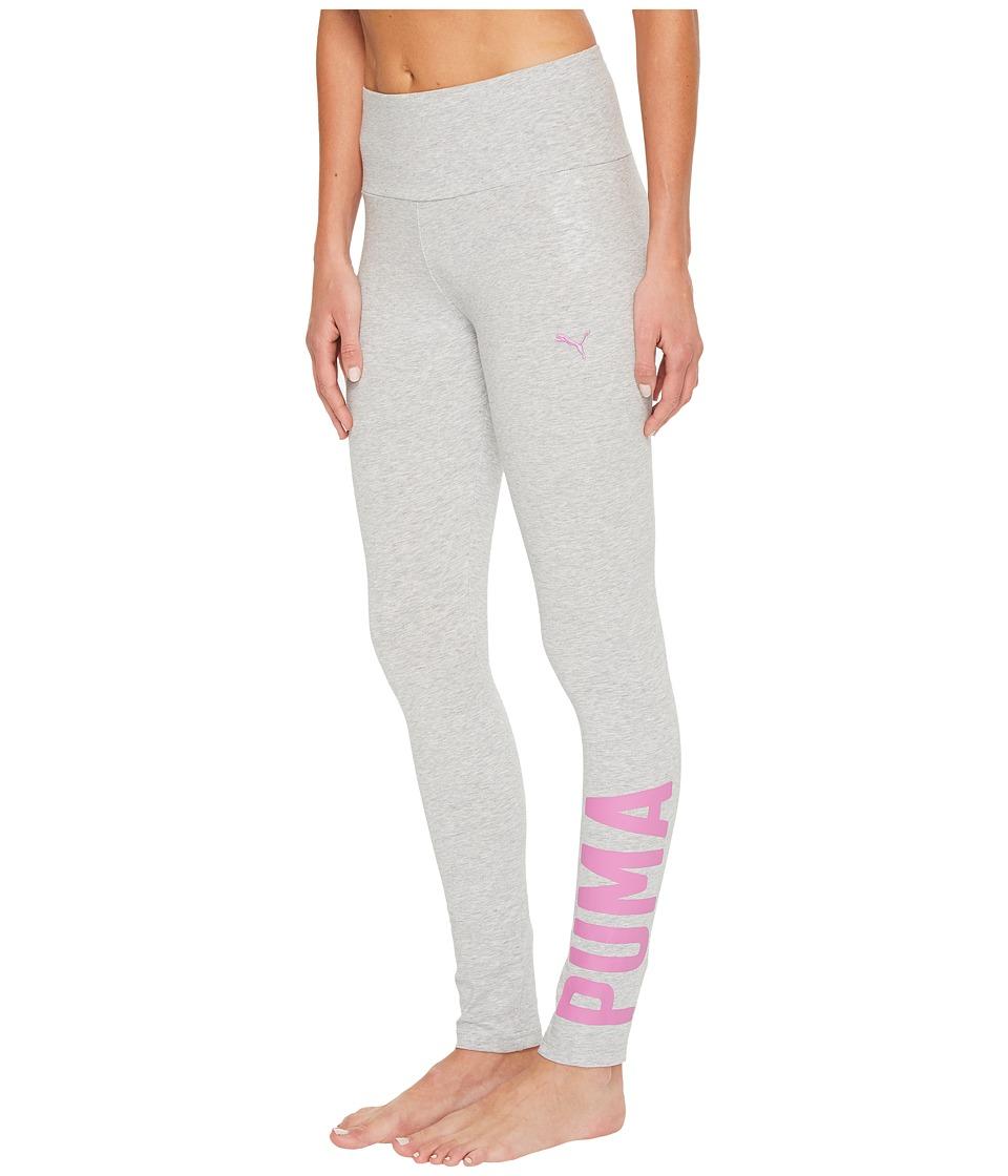 PUMA Athletic Leggings (Light Gray Heather) Women