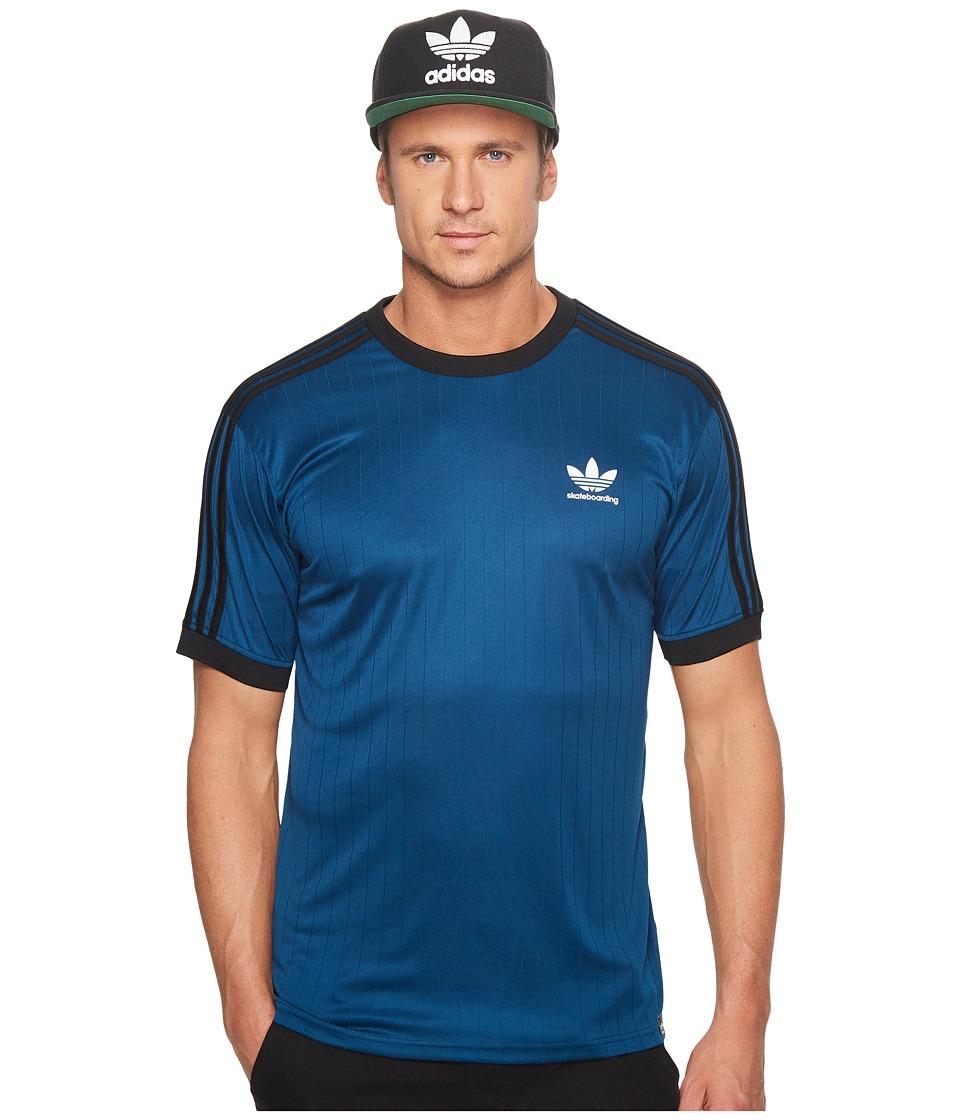 adidas Skateboarding Clima Club Jersey (Blue Night/Black/White) Men