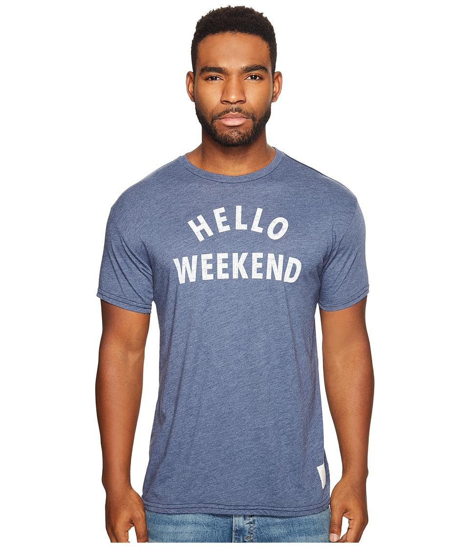The Original Retro Brand - Hello Weekend Short Sleeve Heather T
