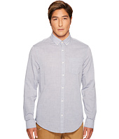 Original Penguin - Long Sleeve Slub Linen Feeder Stripe Button Down