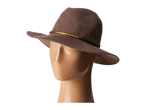 San Diego Hat Company CTH8077 Knit Fedora with Gold Trim - Lilac
