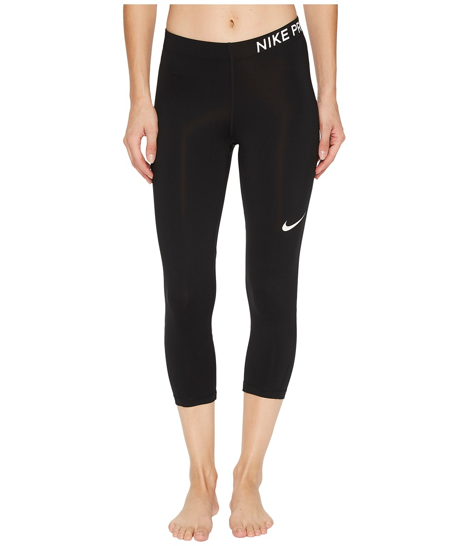 Nike Pro Capri (Black/White) Women