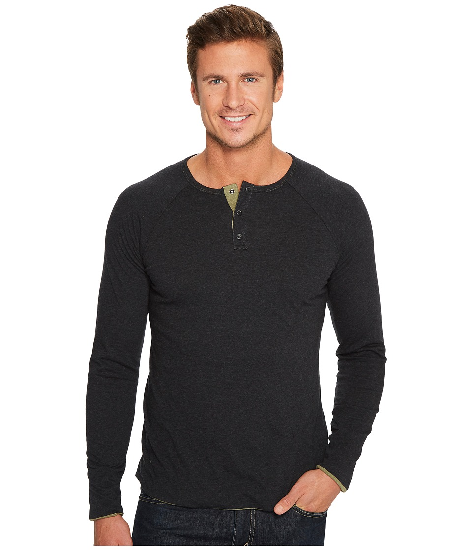 Jeremiah - Utley Reversible Henley (Black Heather/Soldier Heather) Mens Clothing