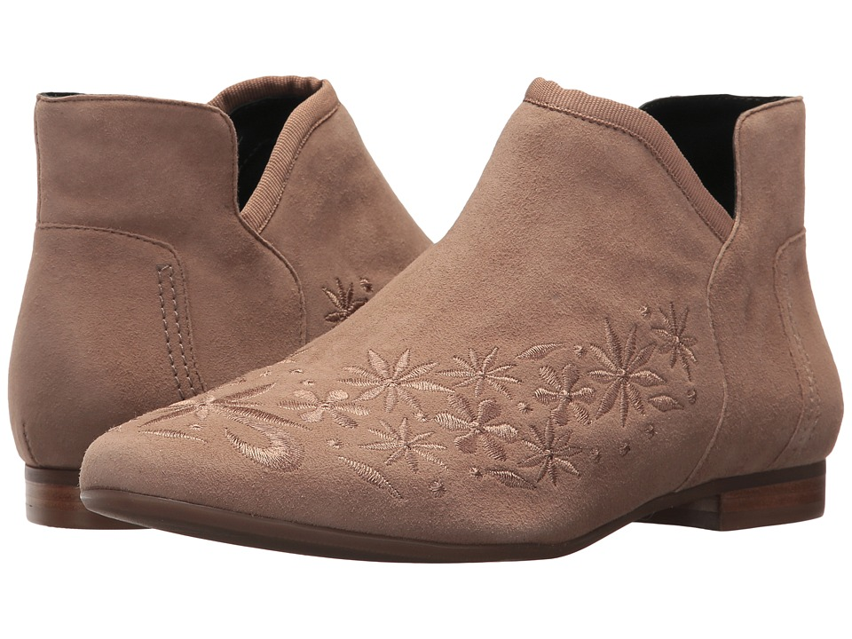 Vintage Style Shoes, Vintage Inspired Shoes Bernardo - Francine Taupe Womens Zip Boots $240.00 AT vintagedancer.com