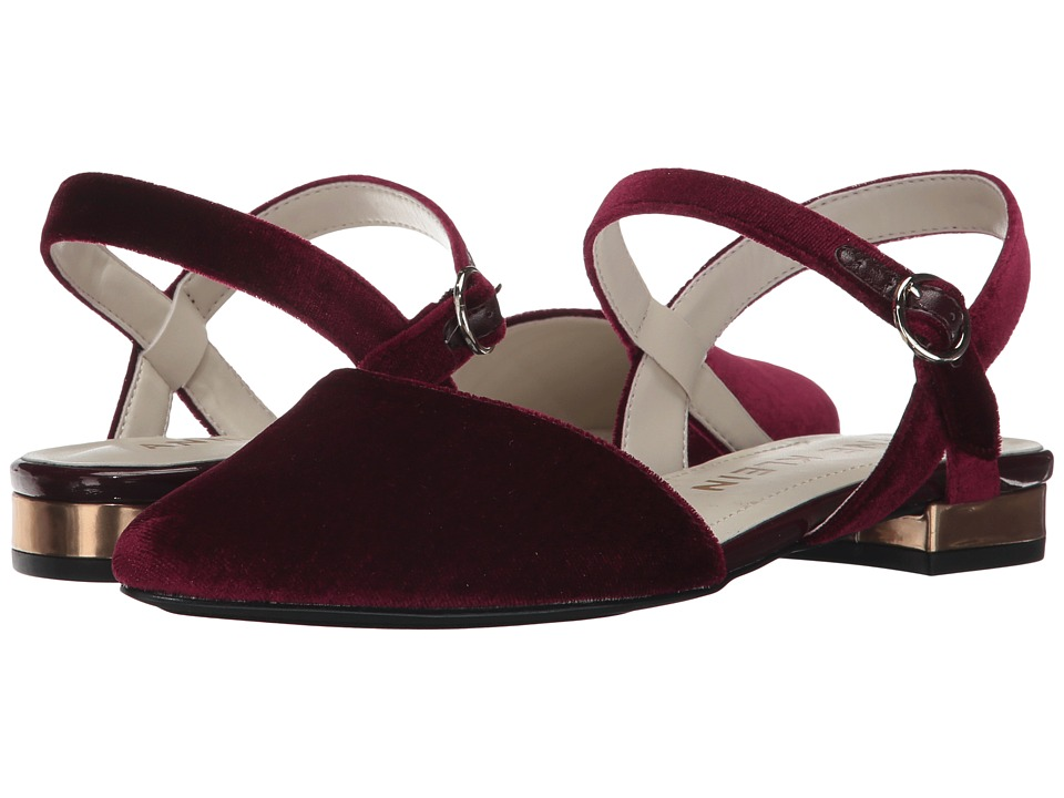 Retro Vintage Flats and Low Heel Shoes Anne Klein - Odell Wine Velvet Womens Shoes $64.99 AT vintagedancer.com