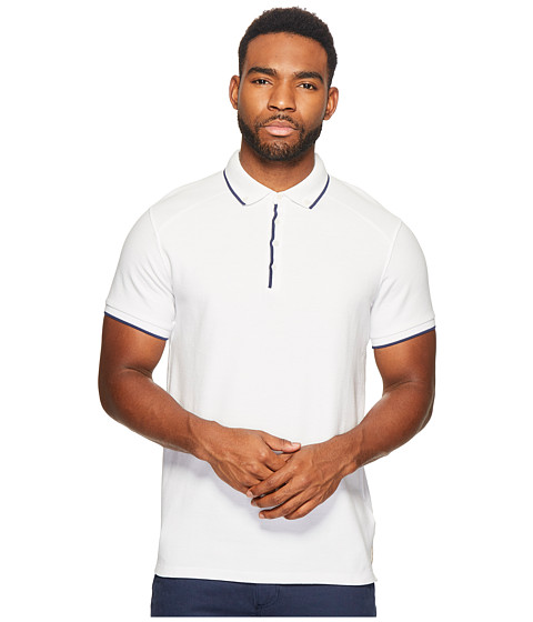Scotch & Soda Home Alone Longer Length Chic Polo with Subtle Woven Details