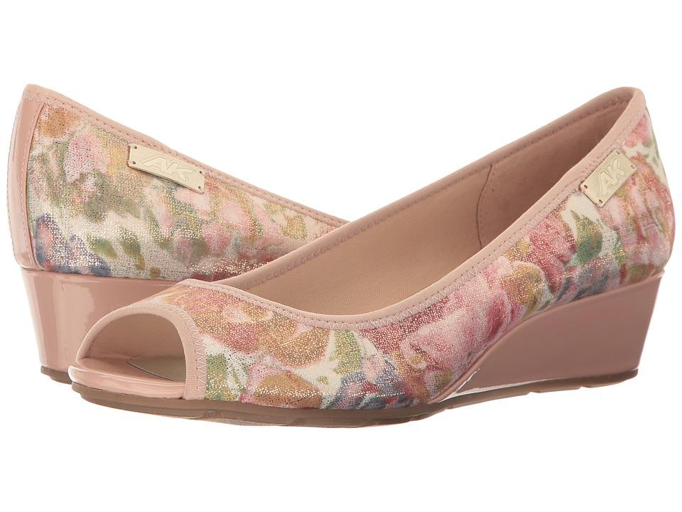 Anne Klein Camrynne (Light Pink Floral Fabric) Women's We...