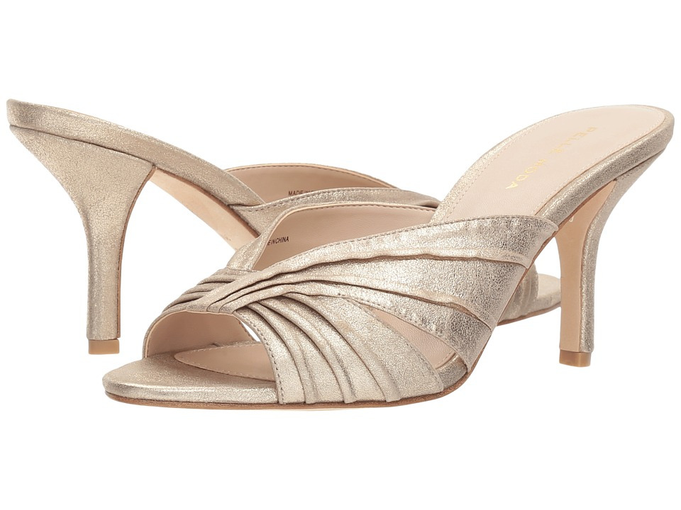 Pelle Moda Isla (Gold Metallic Suede) High Heels