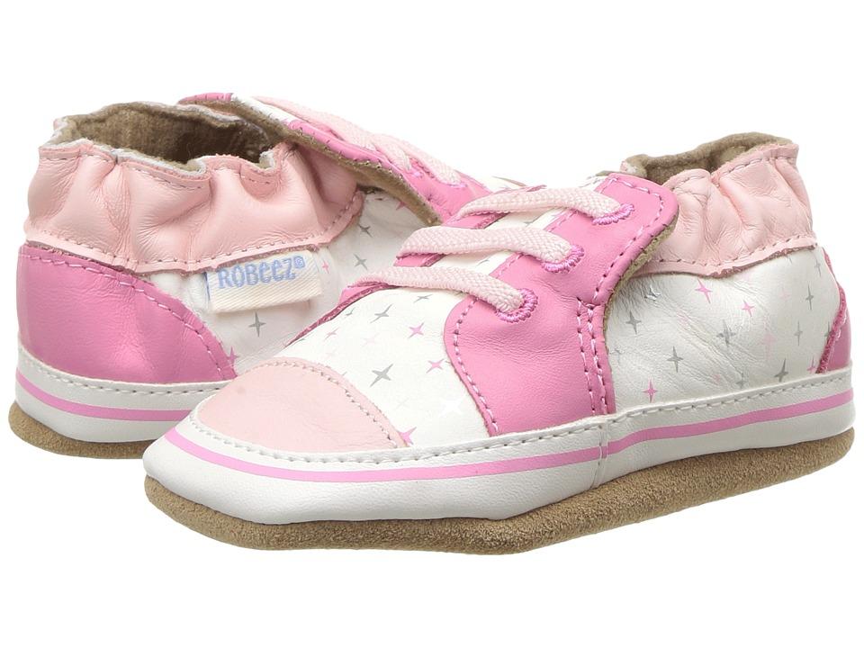 Robeez - Trendy Trainer Soft Sole (Infant/Toddler) (Pink) Girls Shoes