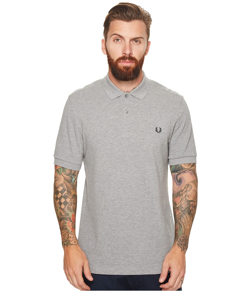 Fred Perry Plain Fred Perry Shirt (Steel Marl) Men's Clot...