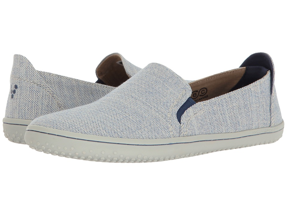 Vivobarefoot - Mata (Blue Canvas) Womens Slip on  Shoes