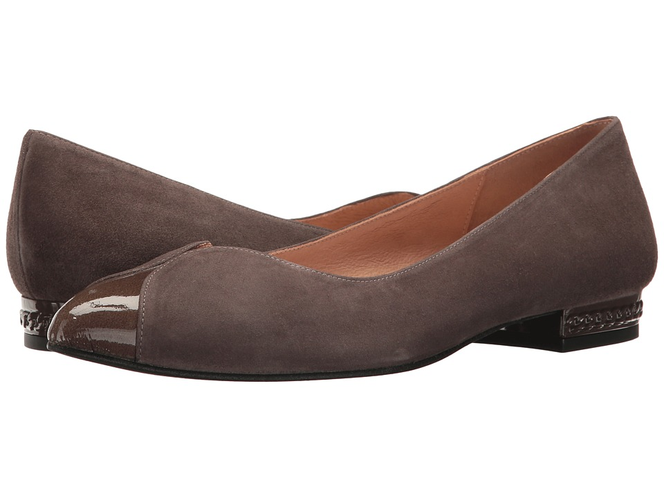 French Sole Zigzag (Taupe Suede/Patent) Women