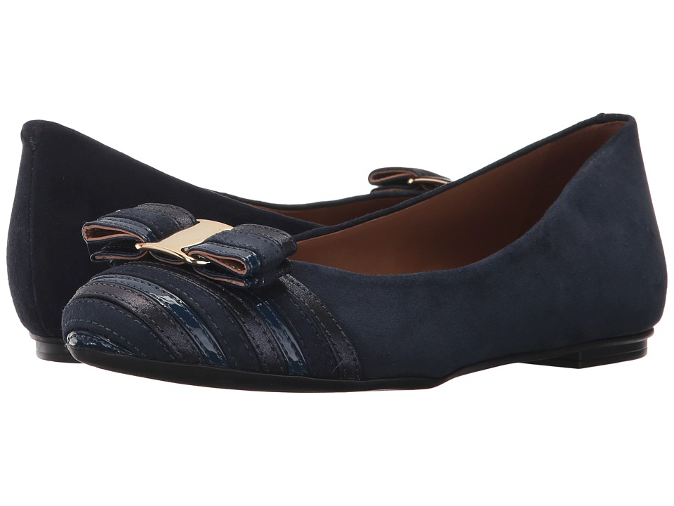 French Sole - Yacht Flat (Navy Multi) Womens Flat Shoes