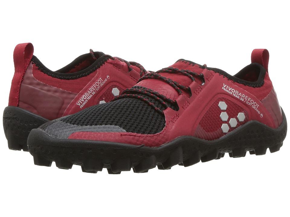 Vivobarefoot Primus Trail Soft Ground (Black/Red Mesh) Women's Shoes