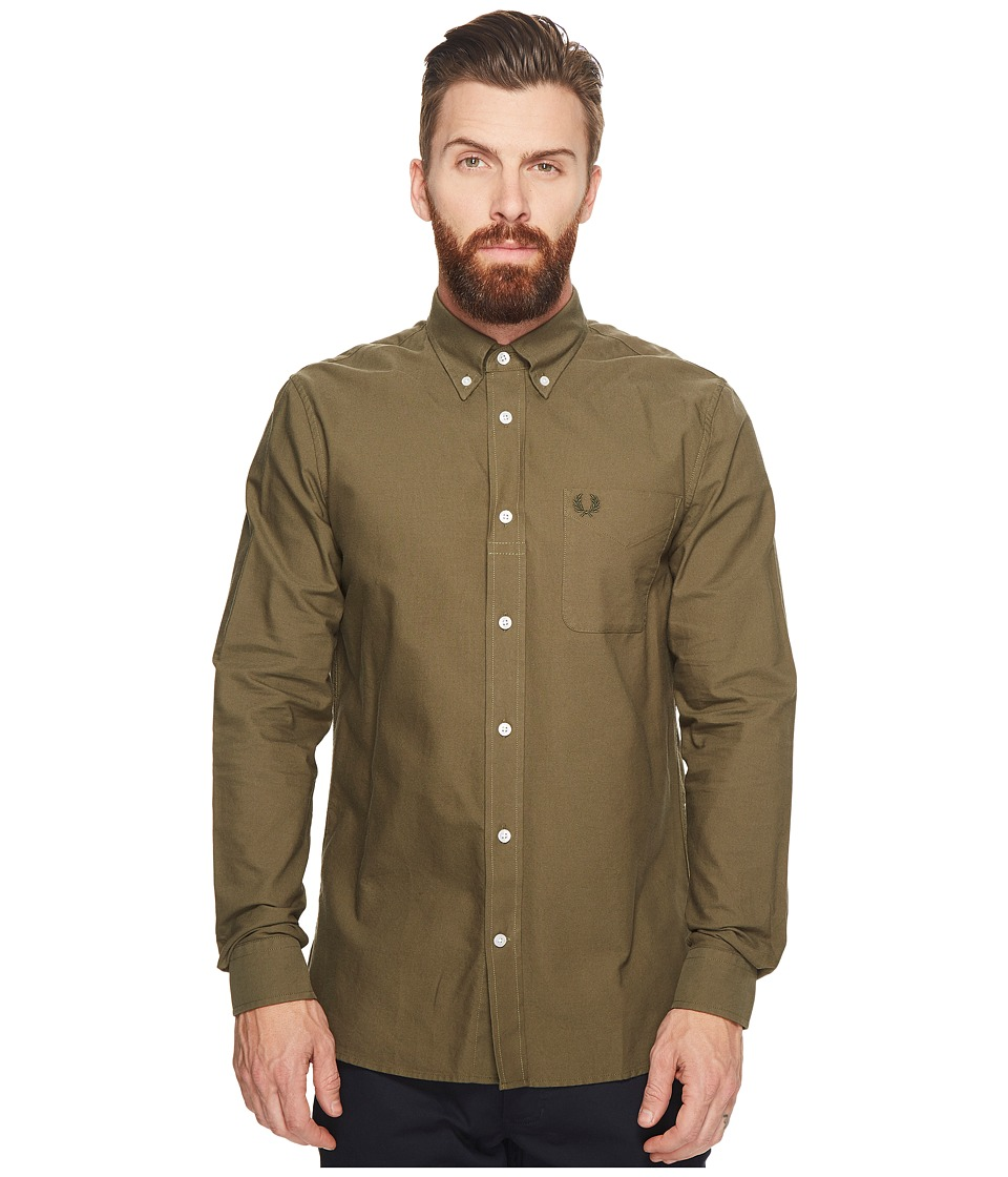 Fred Perry Classic Oxford Shirt (Nettle) Men's Long Sleev...