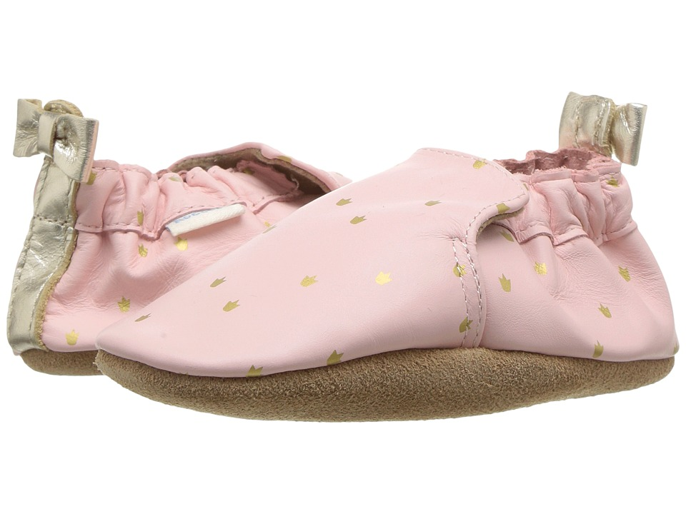 Robeez Prince Charming Soft Sole (Infant/Toddler) (Light Pink) Girl's Shoes