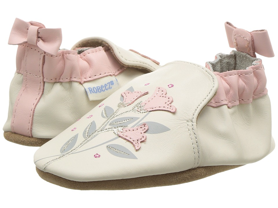 Robeez - Rosealean Soft Sole (Infant/Toddler) (Cream) Girls Shoes