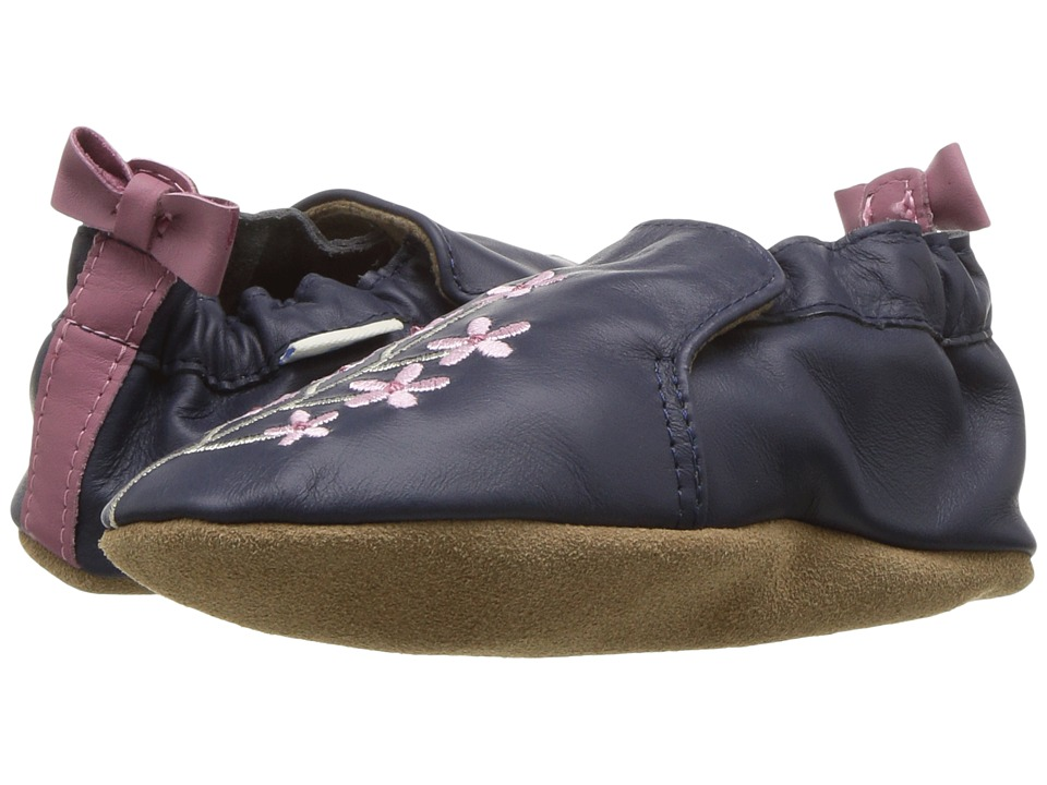 Robeez Bluebell Soft Sole (Infant/Toddler) (Navy) Girl's Shoes