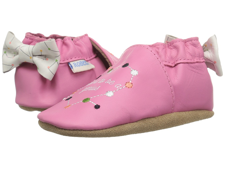 Robeez I Want To Be A Genius Soft Sole (Infant/Toddler) (Azalea) Girl's Shoes