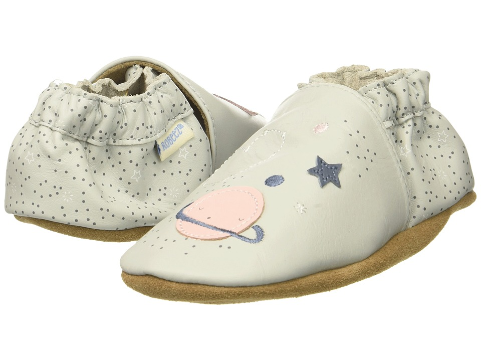 Robeez Over The Moon Soft Sole (Infant/Toddler) (Grey Violet) Girl's Shoes