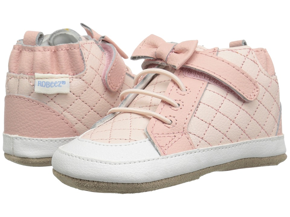 Robeez - Primrose High Top Mini Shoez (Infant/Toddler) (Pink) Girls Shoes