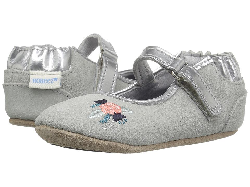 Robeez Blossom Ballet Mini Shoes (Infant/Toddler) (Grey) Girl's Shoes